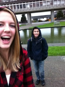 Touring the SFU campus